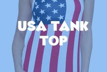 USA Tank Tops / Show your patriotic spirit with these USA tank tops.