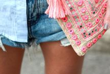 Favourite Fashion / A wardrobe of fashion favourites! Especially, leather skirts, crisp whites shirts, distressed denim, grungy boots and bright pops of colour!