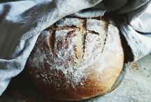 """Bread / """"A loaf of bread, a jug of wine, and thou.""""  Omar Khayyam  / by Priscilla Fairchild"""