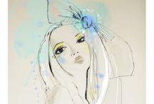 Fantastic Illustration / Watercolour and ink fashion illustration inspiration!