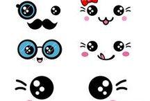 Kawaii faces / Inspiratie en DIY's voor juffen kado's en presenties om zelf te maken of te geven. Inclusief printables.