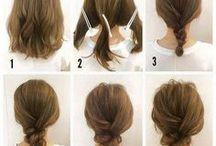 Haarstijlen / hair styles / De gaafste en mooiste haarstijlen voor half lang haar. Inclusief tutorials om het zelf bij je eigen haar uit te proberen.