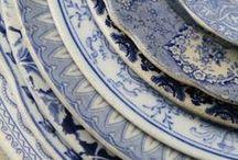Blauw vintage servies / Een verzameling van foto's van de prachtigste (vintage) serviceborden in allerlei tinten blauw.