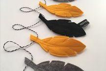 Slingers DIY / Allerlei ideetjes om zelf slingers te maken van papier, stof,vilt, noem maar op.