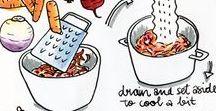 Recipe drawing  - Recept tekenen / Vind hier de lekkerste recepten uitgebeeld in de mooiste illustraties. #eetspiratie #drawitlikeitshot