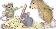 House Mouse / Adorables petites souris avec lesquelles j'illustrais un blog créé après l'envol de mon petit ange...