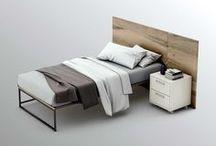 Pieza FOUR. La cama / La pieza FOUR del programa OLUT, es para configurar CAMAS o SOFÁS. Se puede configurar con tableros laterales, con brazos a modo de sofás. Se fabrica para camas de 100/120/140 cm