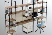 Pieza SIX . La estantería / La estantería de estilo nórdico más flexible y adaptable a distintas necesidades: puede ser para una cocina, un vestidor, una habitación juvenil. una sala con televisión o todo junto en un mismo espacio.