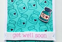 Cards - Get Well Soon / Cards for people who are unwell or are having a rough time.