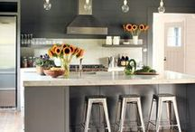 Kitchens / Colors, design ideas for big or small kitchens / by Tira S