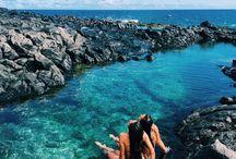 "Rock Pool Wonders / ""Good times and tan lines."""