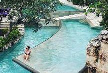 Swimming Pools / ▶HOMEMAGEZ.COM◀Visit our pools gallery of custom swimming pool designs and  waterfalls