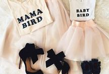 Mommy & Me / A board for matching mother and daughter outfits, and fun activities to do.