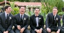 Groom & Groomsmen / The right tuxedo can add the best of men's fashion to a groom's wedding day. From real weddings to top designers, these wedding suits, groomsmen suits and men's formal wear ideas take the cake.