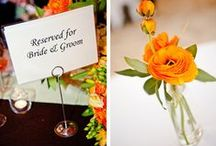 Orange Wedding Details / Find the best orange wedding ideas for your orange wedding. From wedding favors to statement decor, these wedding details fit into the orange palette you've been dreaming of.