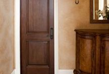 Interior Doors / The look doors for the inside the home is just as important as the exterior door. They range from the traditional to the modern and from the simple to the elaborate. Whether they are stained or painted, with lites and panels or not they reflect their surroundings or a contrasting focal point. Interior doors include swinging, pocket, sliding and bifold doors. #doornmore #interior door #style #beautiful #color #art / by US Door & More Inc.