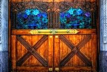 Unique Entry Doors / Many doors are quite unique in design, utilizing a variety of woods such as mahogany, alder, and pine and other materials including an assortment of glass types from insulated glass, tempered glass and triple glazed glass. Some doors are uniquely shaped while others are intricately carved. Sometimes paint is used and other times molding or metal to create pictures or designs on doors. #doornmore #exterior door #unique #glass #color