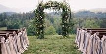 Ceremony Décor / Your wedding ceremony is a big moment. Whether you're looking for wedding ceremony decorations and wedding decoration ideas or trying to decide between an indoor and outdoor ceremony, this inspiration should provide all the best options.