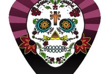 Custom Day of the Dead Guitar Picks / Hot Picks USA Day of the Dead Guitar Picks