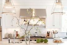 kitchen inspiration / gray, sky blue, mustard yellow, touch of purple?