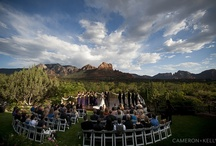 L'Auberge de Sedona Venue  / We love Sedona weddings at L'Auberge! The creekside is romantic and the red rock views are elegant. Guests love staying at their cottages by the creek.