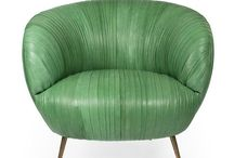 CK Mid-century office Inspiration / How we are redesigning our office! Mad men, gold, white, kelly green, vintage, 50's, modern,