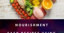 Nourishment | Easy Recipes Using Simple Energy Building Foods / These recipes are easy to make with only a few ingredients and they use high energy ingredients like superfoods and raw fruits and veggies.  Mostly whole foods, lots of easy recipes, and a few delicious desserts!  #recipes #energyfood #superfood #wholefoods #nourish #yummy #easyrecipes