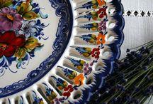 Blue & White Tableware