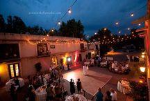 Sedona Weddings Tlaquepaque / Sedona Weddings, Tlaquepaque patio weddings, stone patio, fountains, chapel, calle weddings