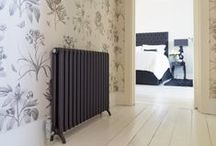 Bisque Tetro Radiator / Our elegant Tetro combines all the benefits of modern radiators with beautiful retro styling. It's profile and filigree pattern reflect the cast iron radiators of old but being made from aluminium, the Tetro is slim, light and energy efficient. And it looks gorgeous too!