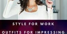 Style for Work | Outfits for Impressing Clients, Looking Professional, and Feeling Comfortable / Style for work doesn't have to be boring!  These outfits are both professional and stylish.  The days of the boring pant suit are gone.  The outfits on this board mix and match colors and pattern, while keeping a sleek classic feel. #style #womensstyle #styleforwork #dressup #professionalstyle #wearit #womensfashion