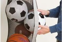Sports Equipment Storage / Ideas for sports equipment storage in the garage.