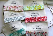 sewing - prayer flags