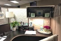 Pimp My Cubicle / Decoration inspiration and ideas to make my new job's work space a productive sanctuary!
