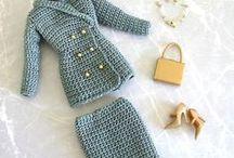 Amigurumi doll's clothes / Learn how to increase your amigurumi doll's wardrobe.