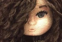 amigurumi hair&eyes / Learn how to make a wig, different hair styles, and how to embroider amigurumi dolls' eyes