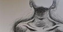 One Line - Drawing / Bilder, die aus einer Linie bestehen und auch so gezeichnet werden.