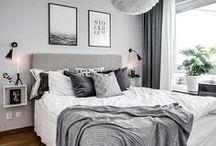 Schlafzimmer - Interior / Hier findest du viele Inspirationen und Tipps, wie du dein Schlafzimmer schön und gemütlich einrichten und verschönern kannst.