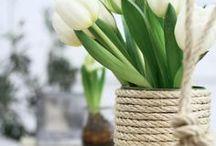 DIY Frühling / DIY Ideen für den Frühling - hier findet ihr schöne Bastelideen für den Frühling, z. B. tolle Frühlingsdeko und selbst gemachte Blumen.