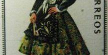 Filatelia - Philately - Trajes Regionales - Bailes regionales / Sellos de España -  Stamps of Spain - Regional Costumes - Dances ....