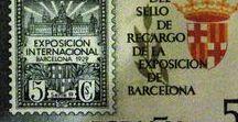 Filatelia - Correos - Conmemoraciones del sello..... / Conmemoracion del Sello, motivos de su historia