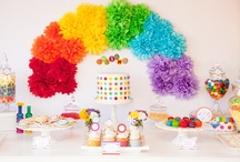 ARC of HUES PARTY / A rainbow a day, keeps the frowns away! Party Inspirations for people who love all spectrum of colors / by Angelina De Castro