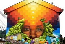 Street Art - Pouliční umění, Grafiiti / Street Art - Pouliční umění, Grafiiti