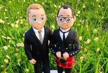 Animated Wedding Cake Toppers