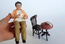 Realistic Polymer Clay Figurines / Custom sculpted realistic hand made polymer clay figurines. OOAK