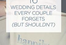 Little Wedding Tidbits / Little extra bits of wedding advice