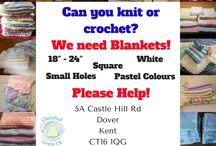 Crochet and knitting patterns suitable for Cherished Gowns UK volunteers / Cherished gown blanket challenge