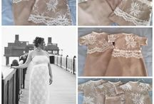 Dress to Gown / These are collage pictures of the original wedding dress with the gowns it was transformed into