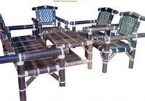Kursi sofa bambu