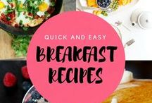 Quick & Easy  - Breakfast Recipes / Breakfast ideas to keep you going throughout the week. Healthy  food recipes.